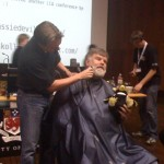 Linux giving Bdale a shave